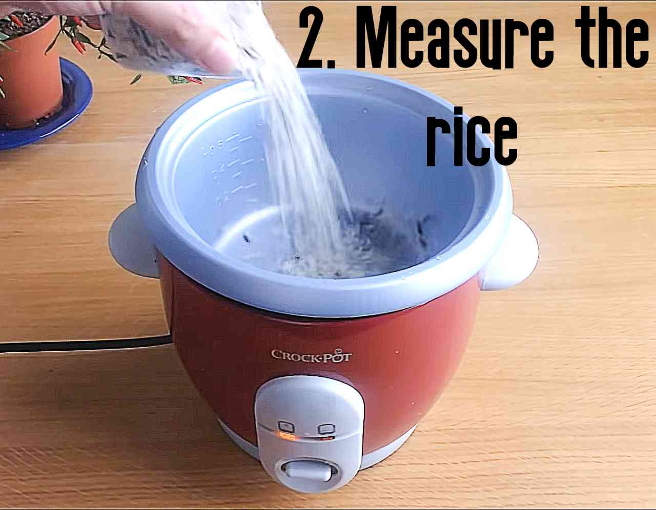 Measure the rice