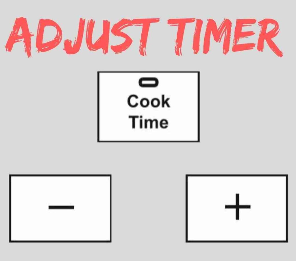 Adjust the cooking time of pressure cooker