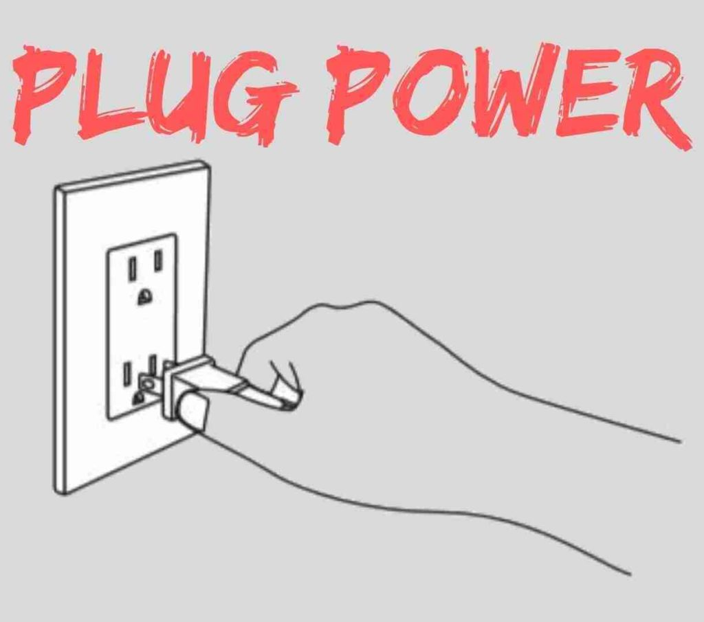 plug the power cable of electric pressure cooker