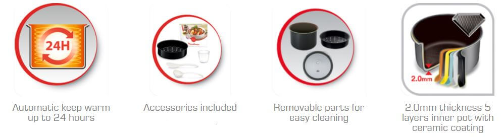 T-FAL Rice Cooker more features