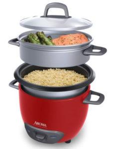 Aroma ARC-743-1NGR glass lid & steamer basket