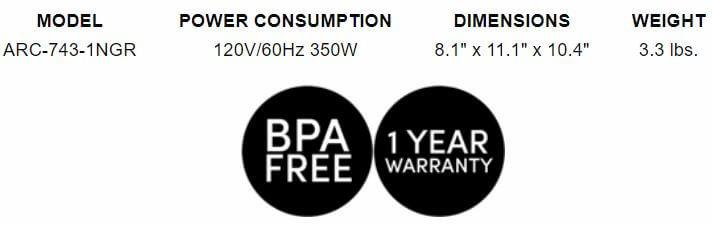 Aroma Rice Cooker BPA free