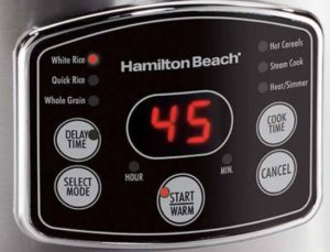Hamilton Beach Rice Cooker (37548) functions