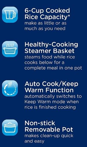 Oster Rice Cooker (CKSTRCMS65) features
