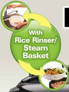with rice rinser and steamer basket-min