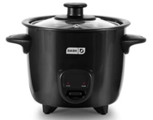 DASH DRCM200BK MINI RICE COOKER AND FOOD STEAMER