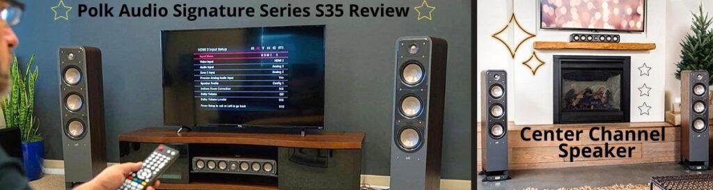 Polk Audio s35 center channel speaker