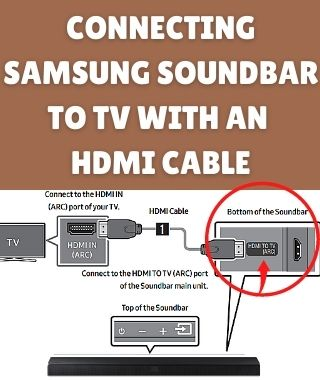Connecting Samsung Soundbar to TV with an HDMI cable