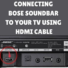 Connecting Your Bose Sound Bar To Your TV Using an HDMI Cable