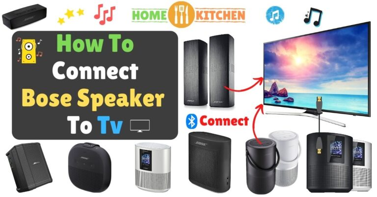 How To Connect Bose Speaker To Tv