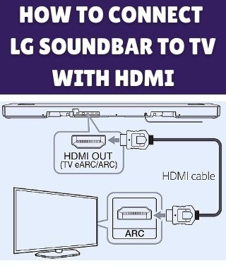 How to connect LG soundbar to TV with HDMI